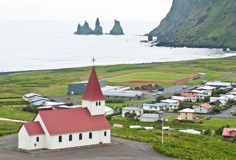 Mesto Vík-Island