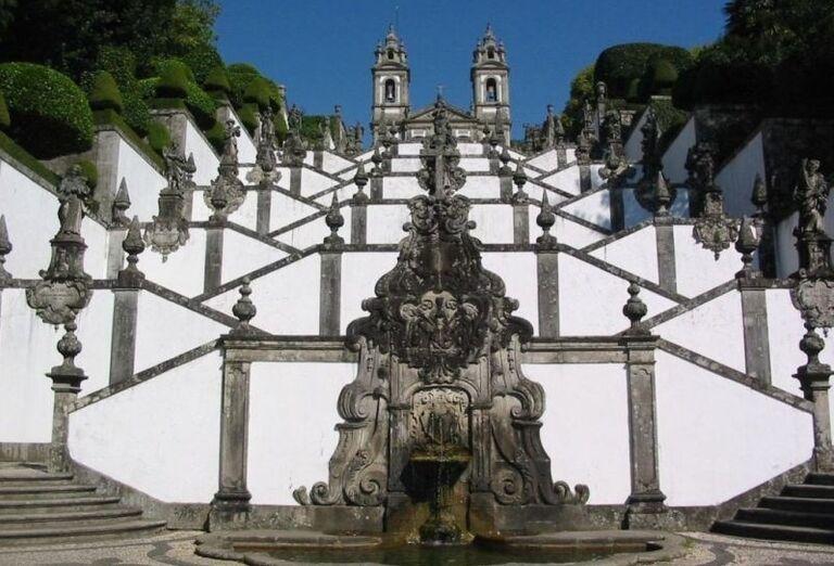 Barokové schodište v Bom Jesus do Monte