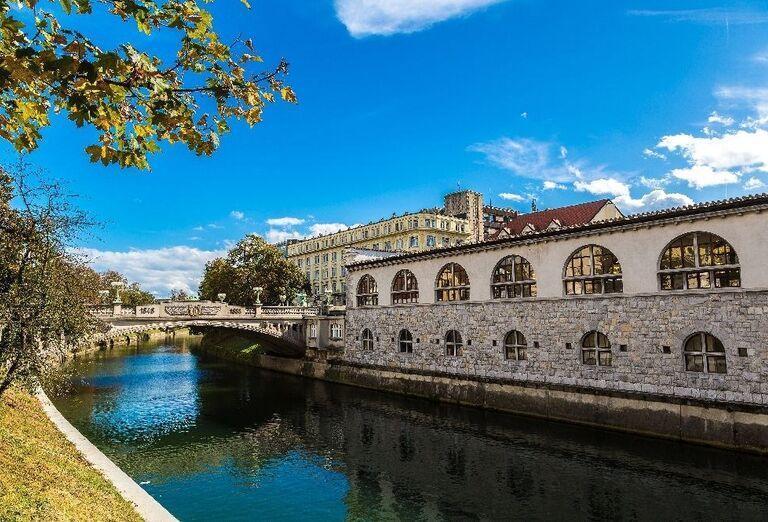 Rieka Ľubľany v centre mesta