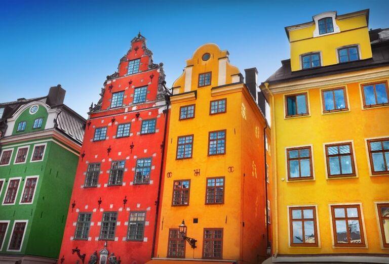 Farebné domy v Kodani