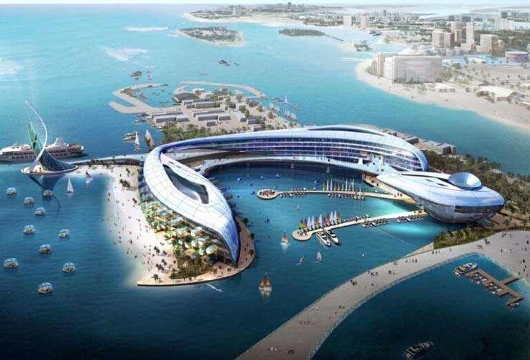Jebel Ali s umelo vytvoreným prístavom