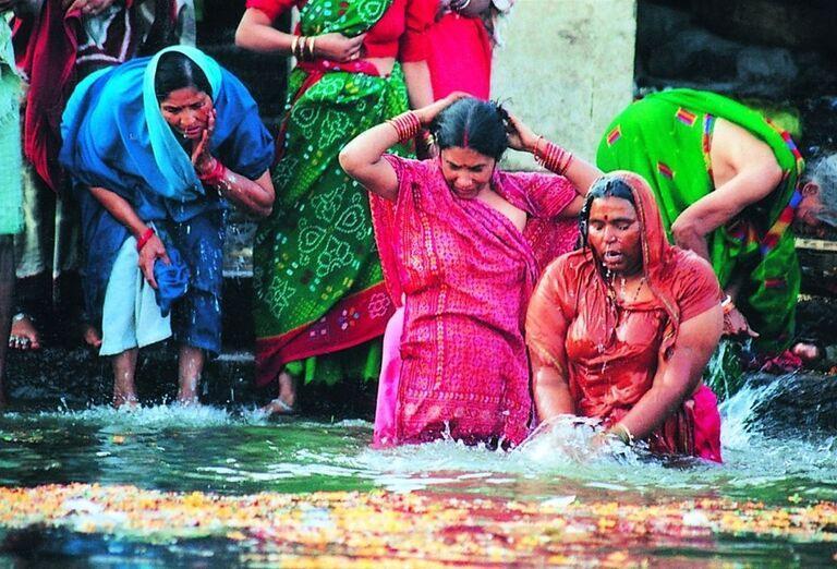 Kúpanie Indických žien