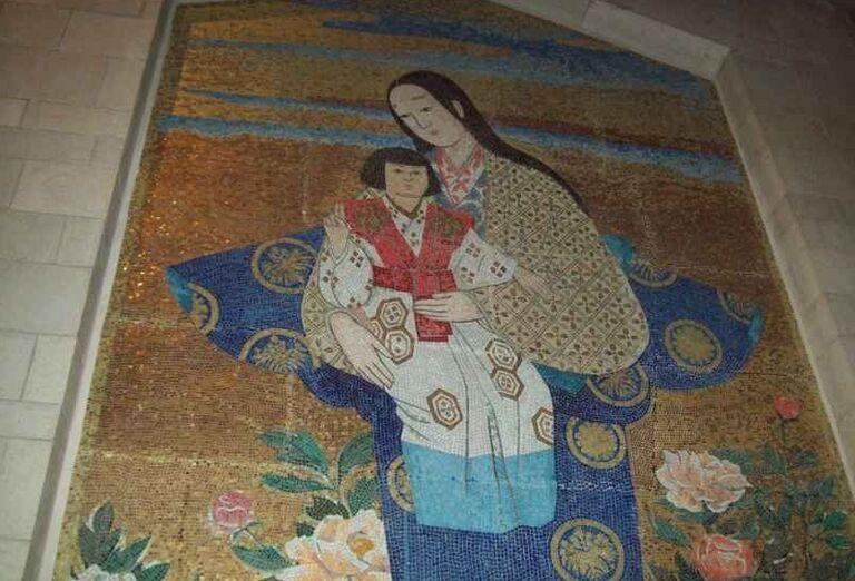 Mozaika na stene Kostola sv. Petra v Gallicante