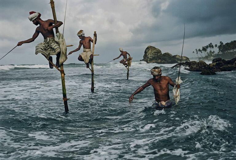 Tradičný Srílanskí rybári
