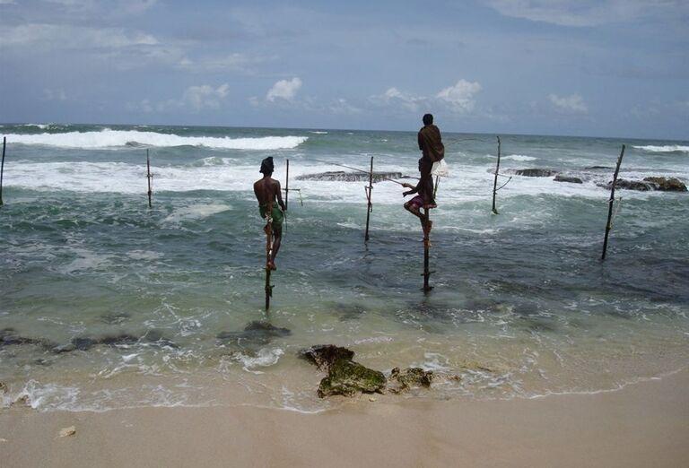 Tradiční rybári na Srí Lanke