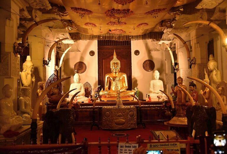 Svätyňa buddhov v Dambulle