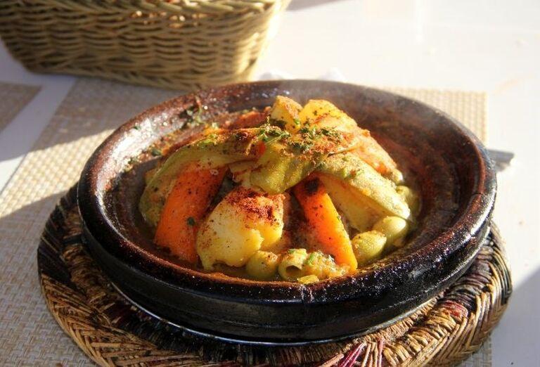 Tradičné jedlo v Maroku