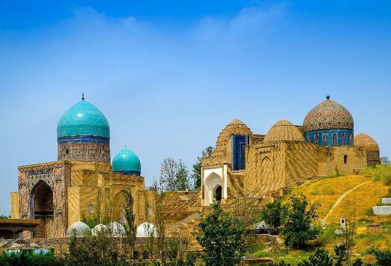 Pamätný komplex Shah-I-Zinda v Samarkande