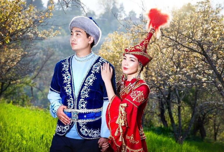 Tradičný párik v Uzbekistane