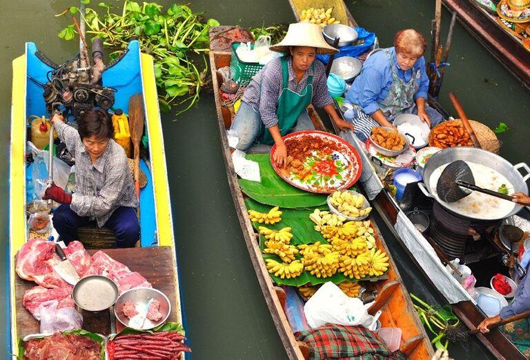 Najslávnejšie plávajúce trhy na rieke