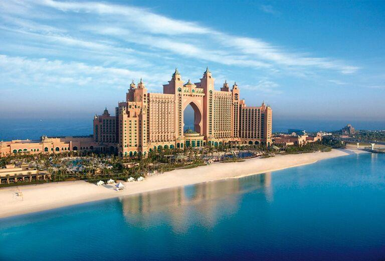 Pohľad na hotel Atlantis, The Palm