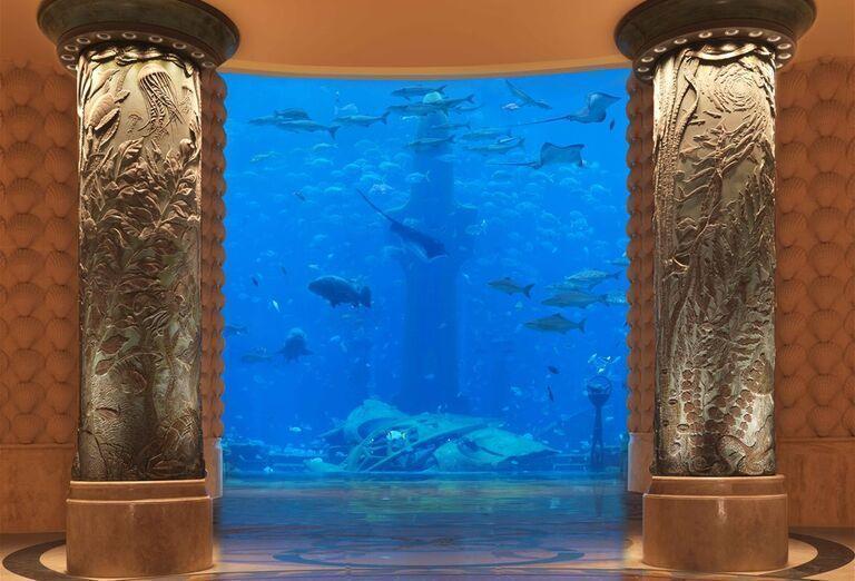 Morské akvárium v hoteli Atlantis, The Palm