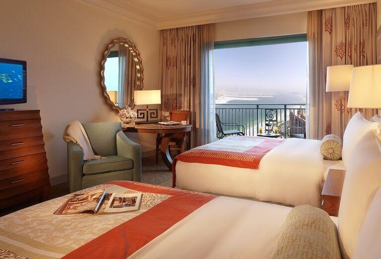 Izba s výhľadom na more v hoteli Atlantis, The Palm