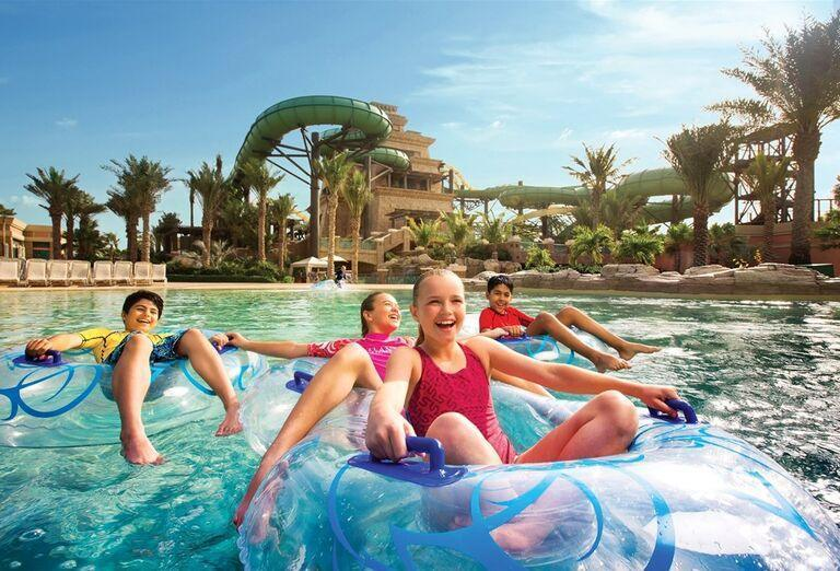 Vodné atrakcie v hoteli Atlantis, The Palm