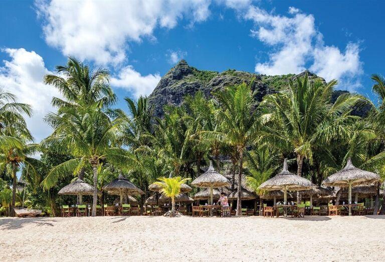 Pohľad na plážovú reštauráciu