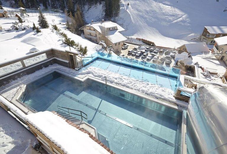 Vonkajší bazén, hotel Frühauf, Innerkrems