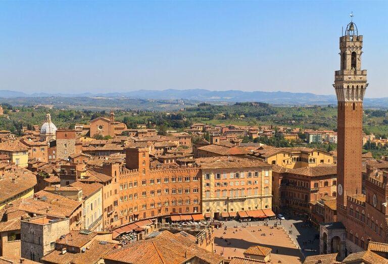 Hlavné námestie v Sienne