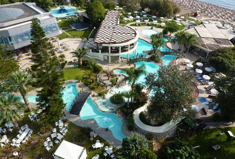 areal, hotel Calypso, Faliraki