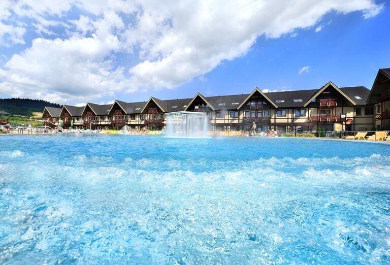 pohľad na Aquapark, Bešeňová, Gino Paradise, foto Marek Hajkovský