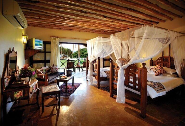 Izba s terasou v hoteli Neptune Pwani Beach Resort & Spa
