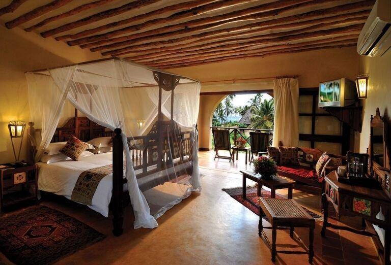 Izba s výhľadom na more v hoteli Neptune Pwani Beach Resort & Spa