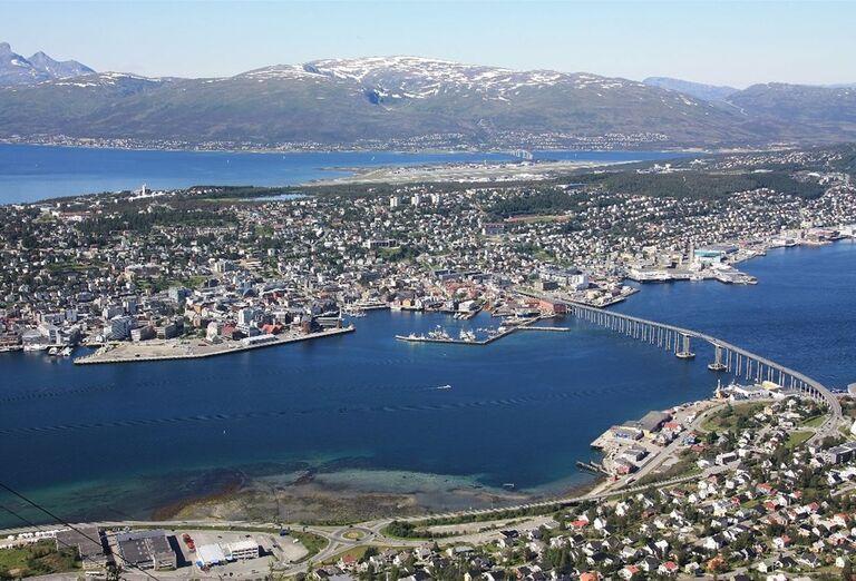 Pohľad z výšky na Oslo
