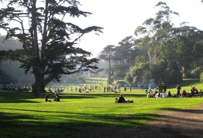 Oddych v central parku