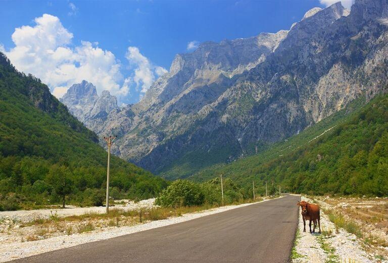 Albánsko -  cesta