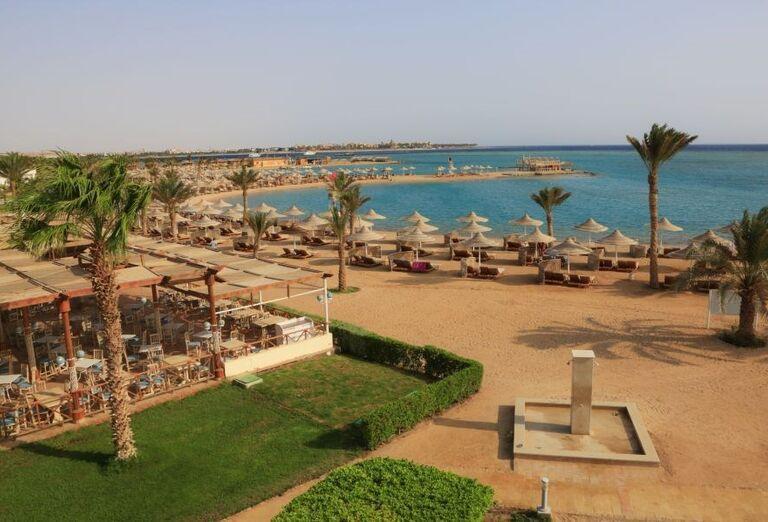 Pláž pred hotelom Labranda Club Makadi