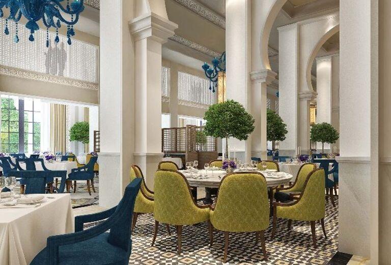 Posedenie v reštaurácii hotela Rixos Saadiyat Island Abu Dhabi