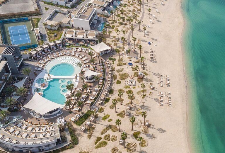 Areál hotela  v hoteli Nikki Beach Resort and Spa Dubai