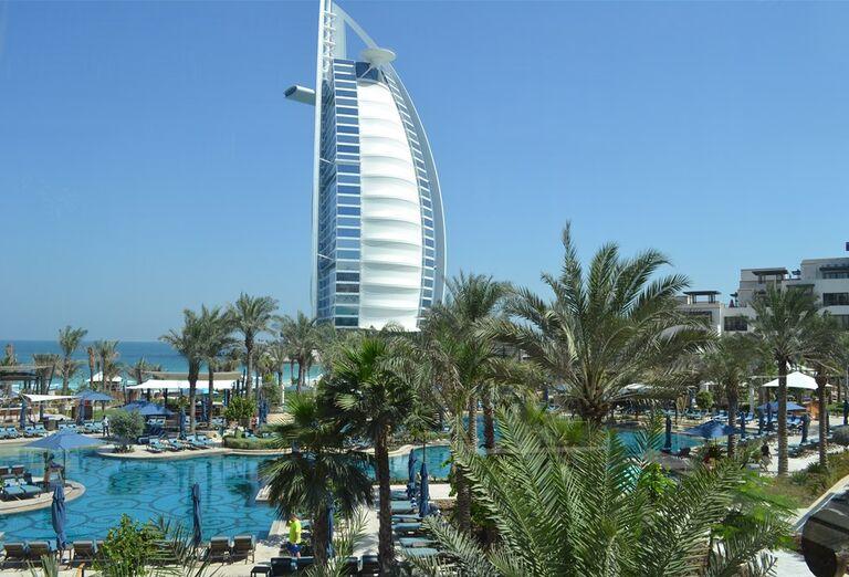 Areál hotela Madinat Jumeirah Al Naseem