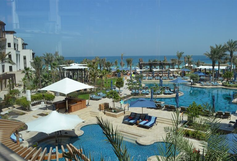 Pohľad na areál hotela Madinat Jumeirah Al Naseem