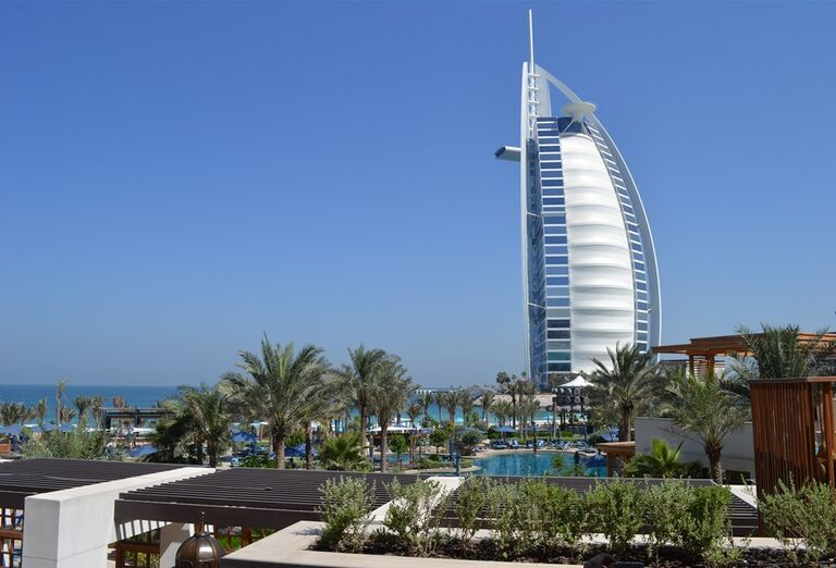 Pohľad na okolie hotela Madinat Jumeirah Al Naseem