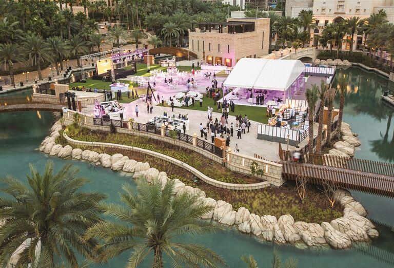 Svadba v areáli hotela Madinat Jumeirah Al Naseem