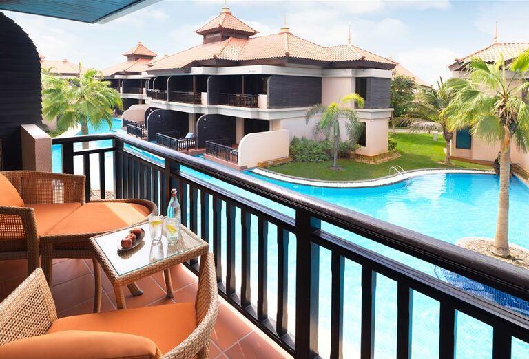 Výhľad z balkóna hotela Anantara The Palm Dubai Resort
