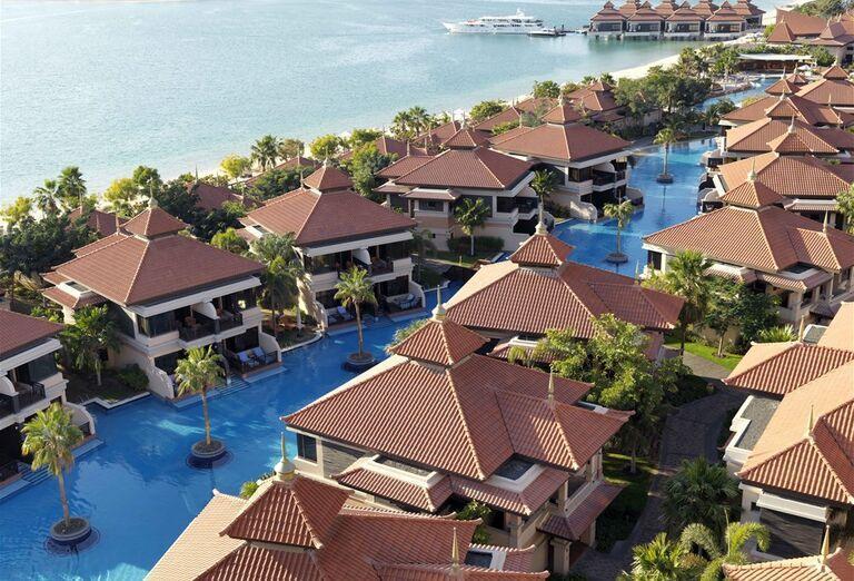Domčeky s bazénmi v hoteli Anantara The Palm Dubai Resort