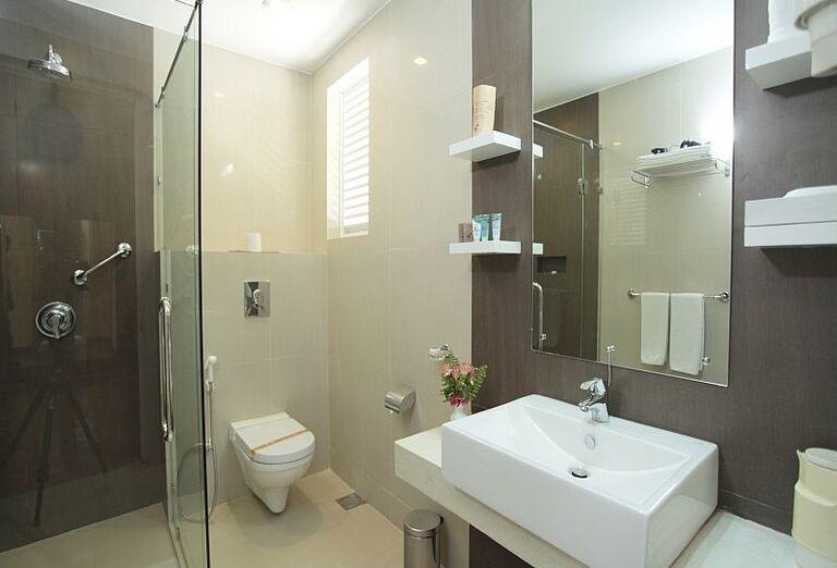 Kúpeľňa v hoteli Club Palm Bay