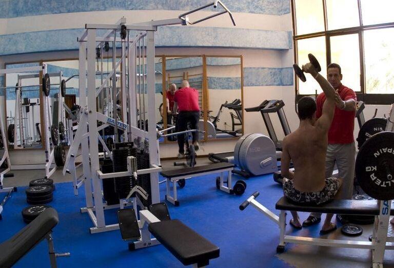 Fitnes v hoteli Meliá Varadero