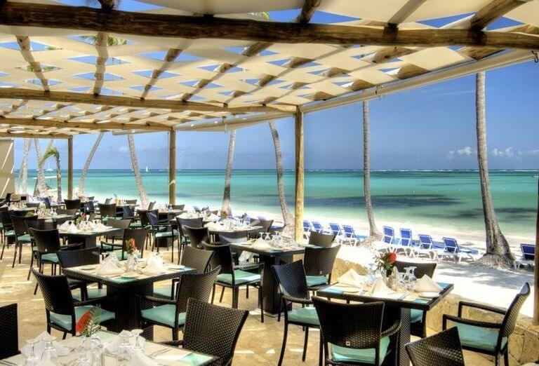 Reštaurácia s výhľadom na more v hoteli Barceló Bavaro Palace