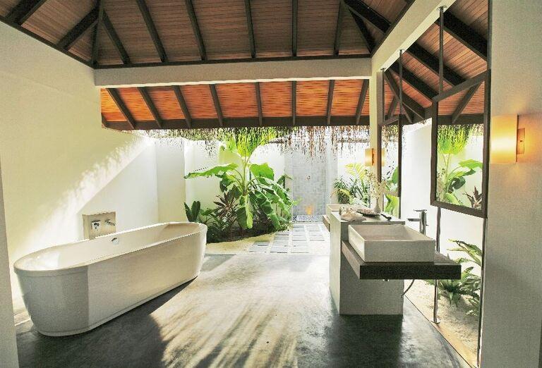 Kúpeľňa v hoteli Velassaru Maldives