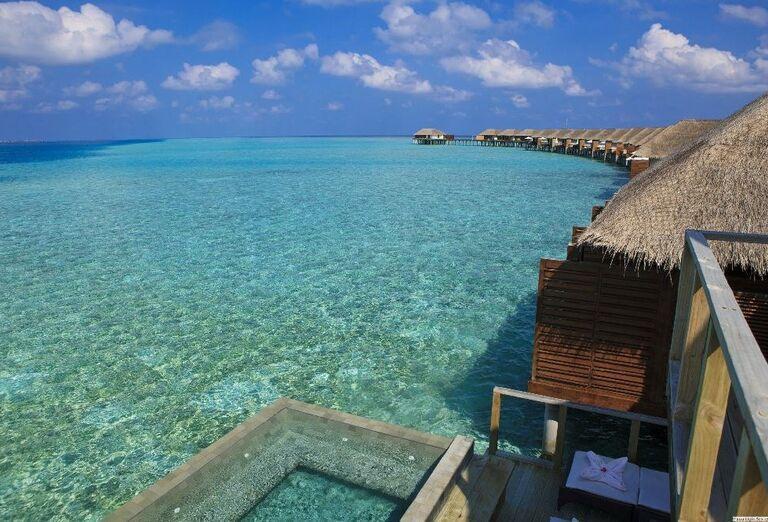 Domčeky nad morom v rezorte Velassaru Maldives