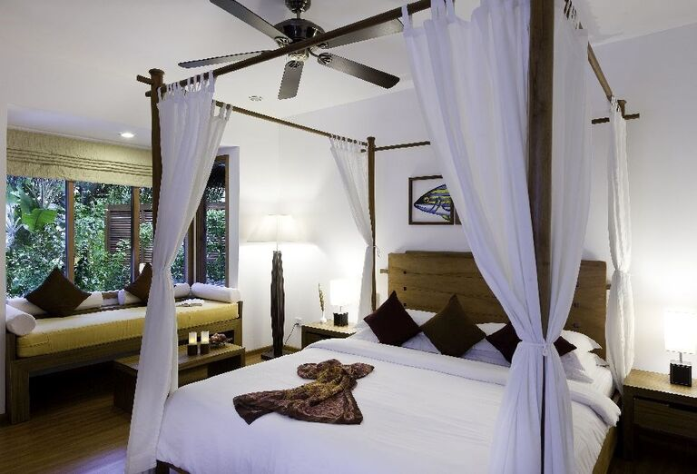 Komfortná izba v rezorte Kuramathi Island