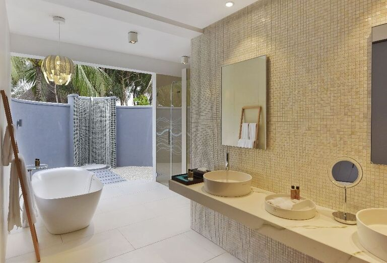 Kúpeľňa v rezorte Kuramathi Island