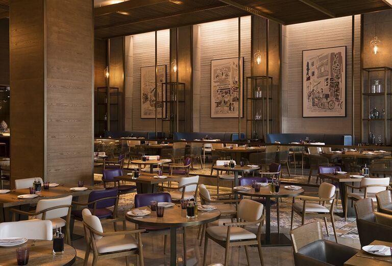 Reštaurácia v hoteli Saadiyat Rotana Resort & Villas Abu Dhabi