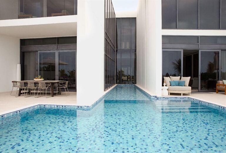 Terasa a bazén