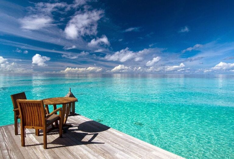 Hotelový Resort Hotel Conrad Maldives Rangali Island - terasa