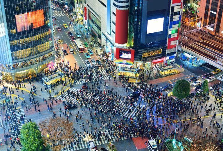 Japonsko - Letné Olympijské hry - mestké ulice