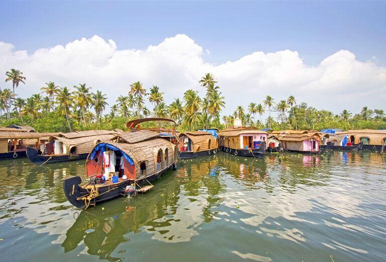 Cestovanie Keralou - lode na rieke