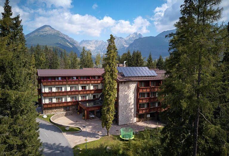 Pohľad na Wellness Hotel Borovica
